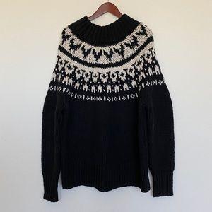 ZARA oversized chunky winter sweater heavy warm